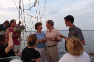 Outer Banks Wedding Parties on a Sailboat